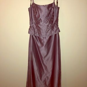 Alfred Angelo purple bridesmaid dress